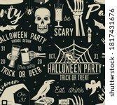 halloween celebration seamless... | Shutterstock .eps vector #1817431676
