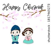 korean traditional holiday... | Shutterstock .eps vector #1817465273