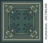 Ethnic Scarf Pattern Design On...