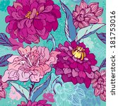 floral seamless pattern with... | Shutterstock . vector #181753016
