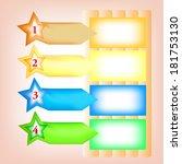 vector paper progress background | Shutterstock .eps vector #181753130