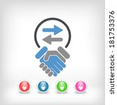 exchange agreement icon | Shutterstock .eps vector #181753376