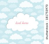 cute cloud text frame | Shutterstock .eps vector #181753970