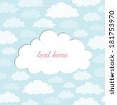 cute cloud text frame | Shutterstock .eps vector #181753970