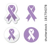lavender ribbon   general... | Shutterstock .eps vector #181754378