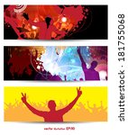 music banners set. vector  | Shutterstock .eps vector #181755068