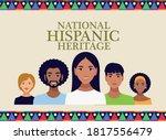 national hispanic heritage...   Shutterstock .eps vector #1817556479