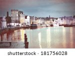 leith  edinburgh  scotland  old ... | Shutterstock . vector #181756028