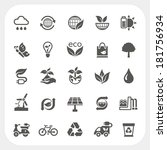 ecology icons set | Shutterstock .eps vector #181756934