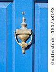 Antique Brass Door Knocker On ...