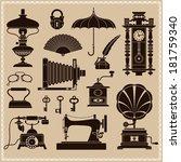 design elements     vintage... | Shutterstock .eps vector #181759340