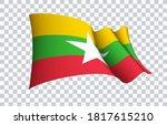 myanmar flag state symbol... | Shutterstock .eps vector #1817615210