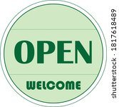 open business sign. open.... | Shutterstock .eps vector #1817618489