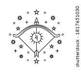 sagittarius zodiac sign in line ...   Shutterstock .eps vector #1817651030