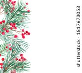 christmas garlands from tree... | Shutterstock . vector #1817673053