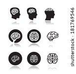 brain. vector format | Shutterstock .eps vector #181769546