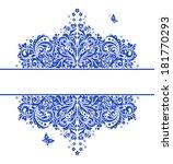 blue vintage floral heading.... | Shutterstock . vector #181770293