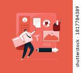 designer working on design... | Shutterstock .eps vector #1817784389