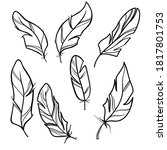 outline symbol collection.... | Shutterstock .eps vector #1817801753