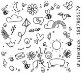 drawing  isolated  collection ... | Shutterstock .eps vector #1817805179