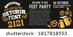 oktoberfest party. beer... | Shutterstock .eps vector #1817818553