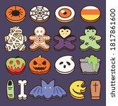 halloween sweet cookies... | Shutterstock .eps vector #1817861600