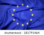 waving eu flag | Shutterstock . vector #181791464