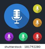 microphone icon | Shutterstock .eps vector #181792280