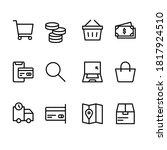 simple set of e commerce line... | Shutterstock .eps vector #1817924510
