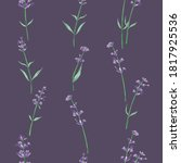 seamless pattern with lavender... | Shutterstock .eps vector #1817925536