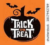 trick or treat lettering design ... | Shutterstock .eps vector #1817942789