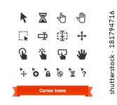 cursor icons set. for web and... | Shutterstock .eps vector #181794716