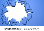 full frame puzzle piece jigsaw... | Shutterstock . vector #181794974