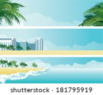 tropical banners. vector... | Shutterstock .eps vector #181795919
