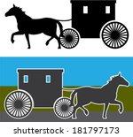 amish wagon   Shutterstock .eps vector #181797173
