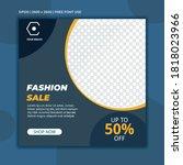 creative vector fashion sale... | Shutterstock .eps vector #1818023966
