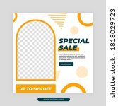 fashion sale social media post... | Shutterstock .eps vector #1818029723