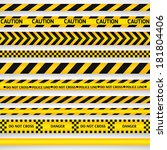 yellow with black police line... | Shutterstock .eps vector #181804406