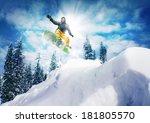 snowboarder  jump | Shutterstock . vector #181805570