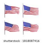 usa flag. waving flag of the...   Shutterstock .eps vector #1818087416