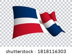 dominican flag state symbol... | Shutterstock .eps vector #1818116303