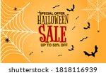 halloween sale banner and...   Shutterstock .eps vector #1818116939