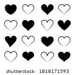 heart icons isolated on white... | Shutterstock .eps vector #1818171593