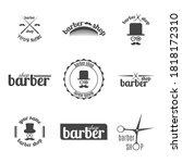 set of grey emblem  logo  label ... | Shutterstock .eps vector #1818172310