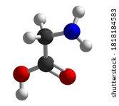 glycine ball btick model... | Shutterstock .eps vector #1818184583
