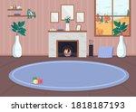 cozy living room flat color... | Shutterstock .eps vector #1818187193