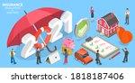 insurance resolutions for new... | Shutterstock .eps vector #1818187406