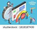 website loading optimization ... | Shutterstock .eps vector #1818187430