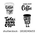 coffee to go lettering set.... | Shutterstock .eps vector #1818240653