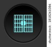 round button icon  jail  door....   Shutterstock .eps vector #1818261086
